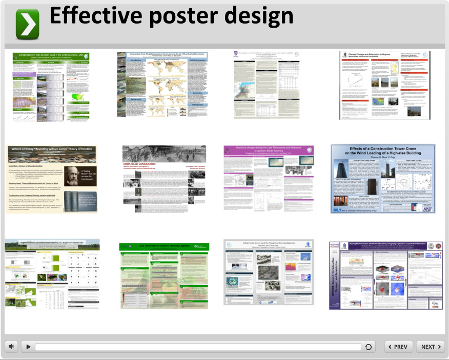 Example posters