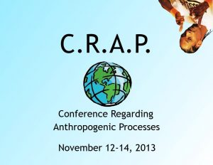 Abstract cover and logo for the Conference Regarding Anthropogenic Processes