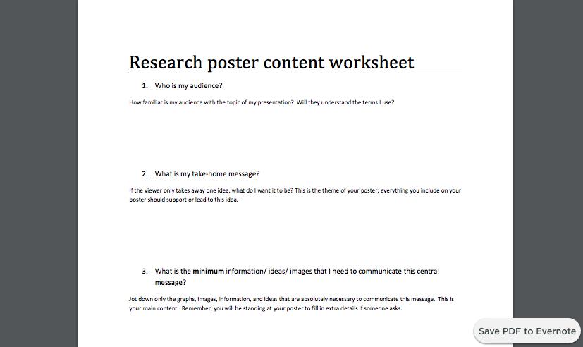 Accompanying worksheet