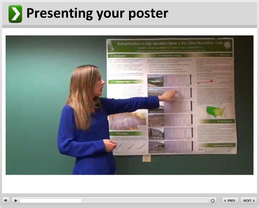 Presenting a poster